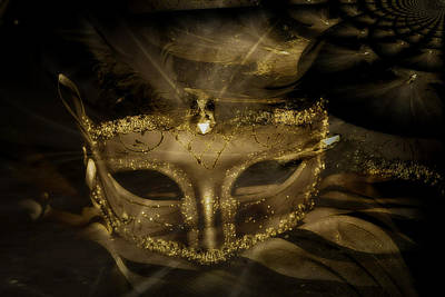 Gold In The Mask Art Print