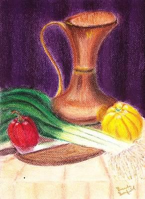 Pastel - Gold Jug by Brenda Bonfield