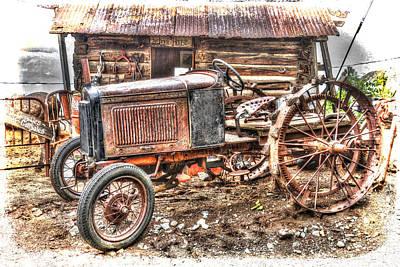Robert Jensen Photograph - Gold King Mine Rusting Tractor by Robert Jensen