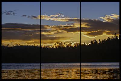 Photograph - Gold Lake Sunrise Triptych by Sherri Meyer