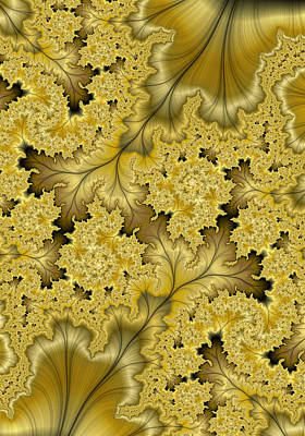 Digital Art - Gold Leaf by Lea Wiggins