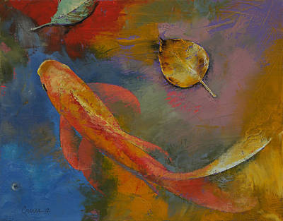 3d Painting - Gold Leaf by Michael Creese