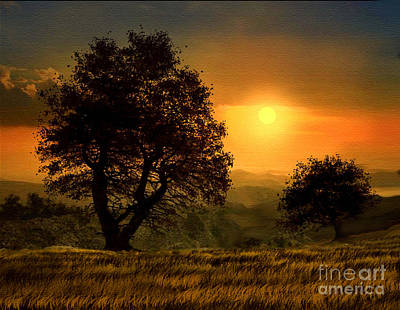 Robert Foster Painting - Gold Light by Robert Foster
