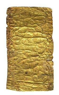 Gold Magic Amulet Art Print