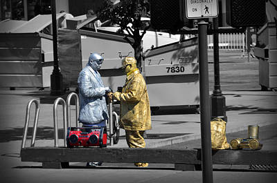 Photograph - Gold Man And Silver Man by RicardMN Photography
