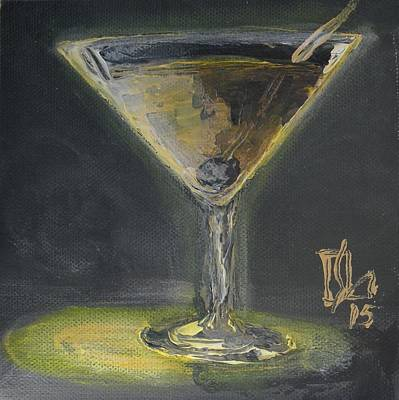 Painting - Gold Martini by Lee Stockwell