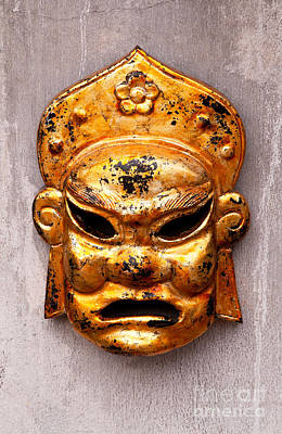 Photograph - Gold Mask by Rick Piper Photography