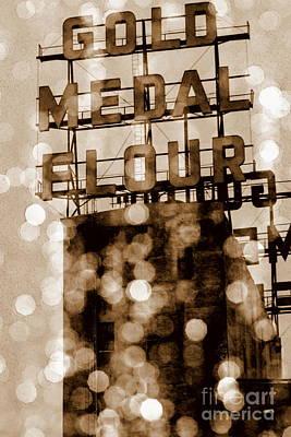 Photograph - Gold Medal Bokeh Sepia by A K Dayton