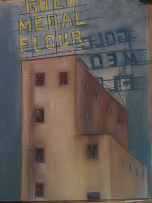 Painting - Gold Medal Flour by Lindsay Frost