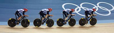 Velodrome Photograph - Gold Medal Pursuit Team London 2012 by Michael Godfrey