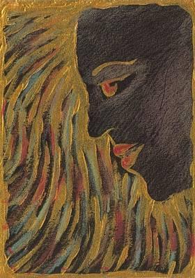 Medusa Mixed Media - Gold Medusa by Nina Shilling
