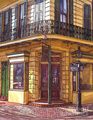 Jackson Square Painting - Gold Mine Saloon  by John Boles