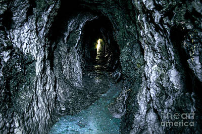 Photograph - Gold Mine With Light At The End Of The Tunne by Jerry Cowart