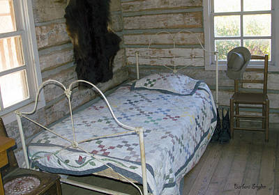 Bed Spread Photograph - Gold Miners Cabin by Barbara Snyder
