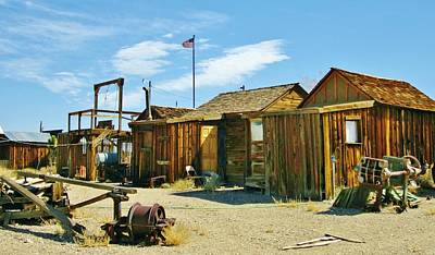 Photograph - Gold Mining Camp The Way It Was by Marilyn Diaz