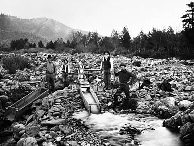 Gold Pan Photograph - Gold Mining Claim C. 1890 by Daniel Hagerman