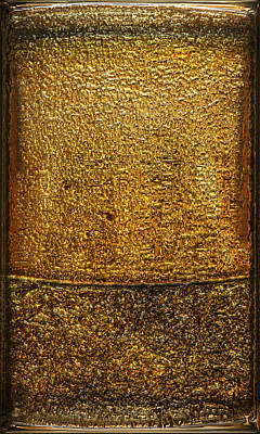 Collectible Mixed Media - Gold Panel 01 by Li   van Saathoff