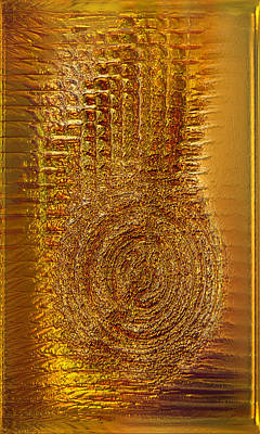 Collectible Mixed Media - Gold Panel 06 by Li   van Saathoff