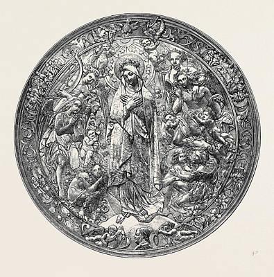 Gold Repousse Medallion Art Print by Dutch School