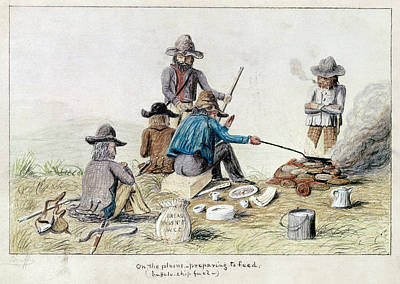 Cook Drawings Drawing - Gold Rush, 1849 by Granger