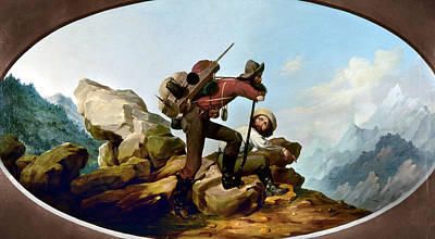 Climber Painting - Gold Rush Miners, C1850 by Granger