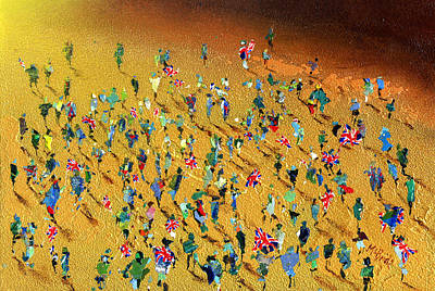 Sporting Event Painting - Gold Rush by Neil McBride