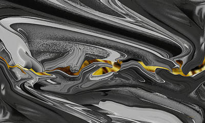 Digital Art - Gold Seam - Abstract by rd Erickson