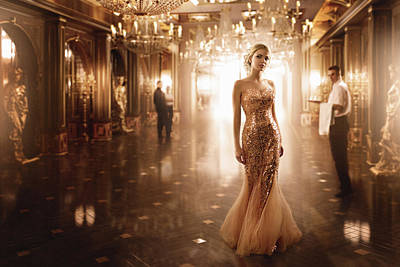 Gold Dress Photograph - Gold by Sergey Parishkov