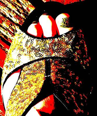Photograph - Gold Shoe by Guy Pettingell