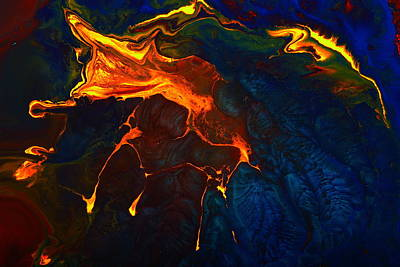 Painting - Gold Signature - Gold Orange Abstract Art By Kredart by Serg Wiaderny