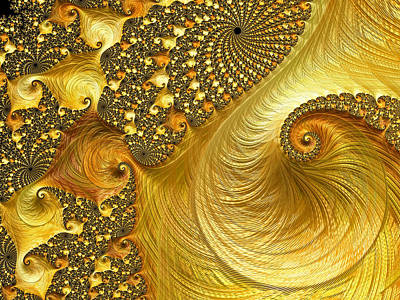 Digital Art - Gold Strike - Fractal Art by HH Photography of Florida