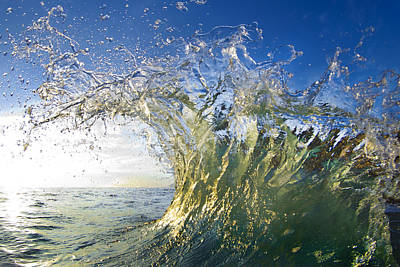 Wave Photograph - Gold Crown by Sean Davey