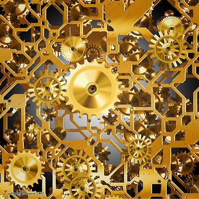 Gold Time.  Art Print by Tautvydas Davainis