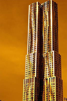 Photograph - Gold Tower Ny by Gregory Merlin Brown