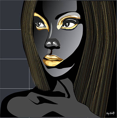 Dracula Digital Art - Gold Women by Roby Marelly