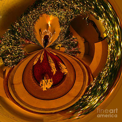 Photograph - Golden Abstract Throw Pillow by Kathy Baccari