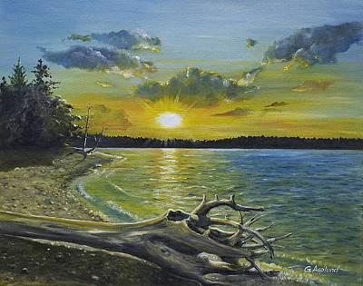Golden Afternoon At Ketron Island Art Print