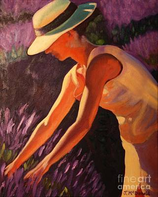 Art Print featuring the painting Golden Afternoons In Lavender by Janet McDonald