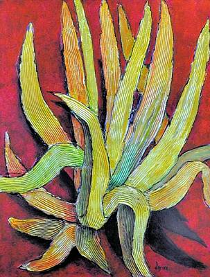 Painting - Golden Agave by JAXINE Cummins