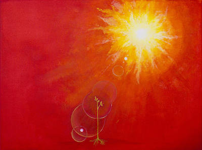 Sun Rays Painting - Golden Age by Barbara Klimova