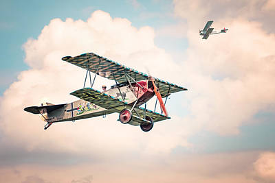 Photograph - Golden Age Of Aviation - Replica Fokker D Vll - World War I by Gary Heller