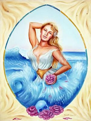 Divine Feminine Painting - Golden Aphrodite by Karin  Leonard