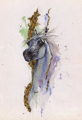 Arabian Mixed Media - Golden Arabian 2014 10 22 by Angel  Tarantella
