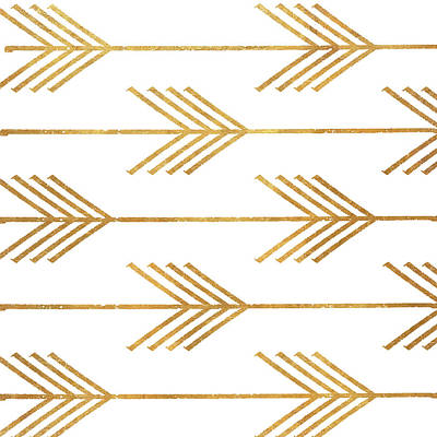 Golden Digital Art - Golden Arrows I by Elizabeth Medley