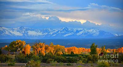 Fall Photograph - Golden Aspen Valley Sunset by Mark Smith