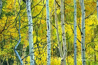 Painting - Golden Aspens by Barbara Jewell