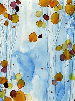 Golden Aspens Art Print by Dawn Derman