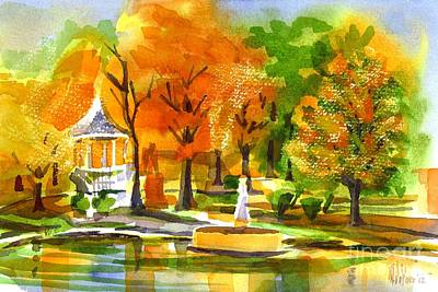 Villa Painting - Golden Autumn Day 2 by Kip DeVore