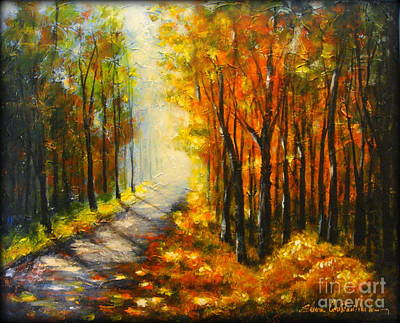 Painting - Golden Autumn by Elena  Constantinescu