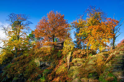 Golden Autumn On Neurathen Castle Art Print